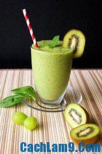 Cách pha chế sinh tố kiwi, cach pha che sinh to kiwi