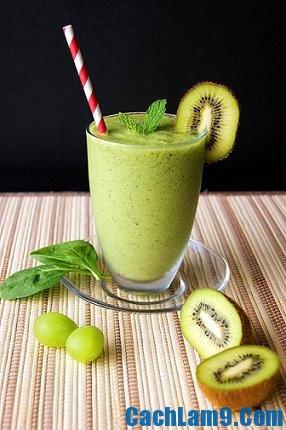 Cách pha chế sinh tố kiwi ngon