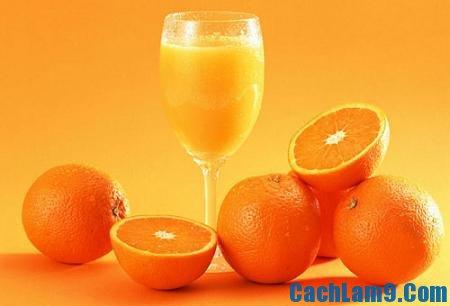 Cách pha chế sinh tố sữa cam, cach pha che sinh to sua cam