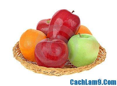 Chuẩn bị nguyên liệu pha chế sinh tố cam táo