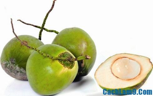 Chuẩn bị nguyên liệu pha chế sinh tố dừa tươi