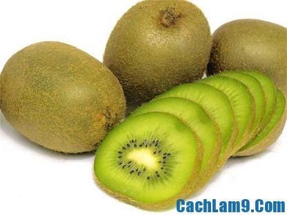 Chuẩn bị nguyên liệu pha chế sinh tố kiwi
