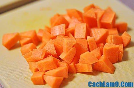 Thực hiện pha chế sinh tố cam cà rốt