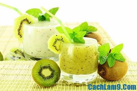 Thưởng thức sinh tố kiwi