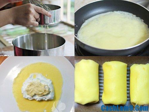 Thực hiện các bước làm bánh sầu riêng