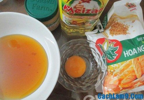Nguyên liệu làm bánh Trung thu sữa dừa
