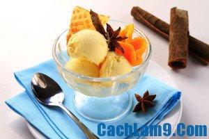 Cách làm kem bí ngô vani