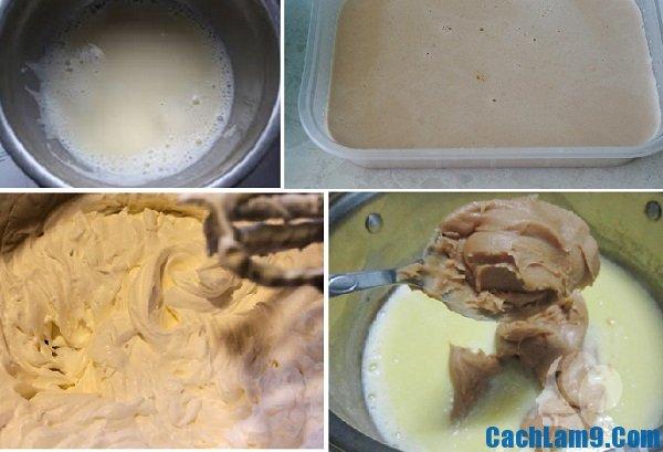 Hướng dẫn cách làm kem bơ lạc