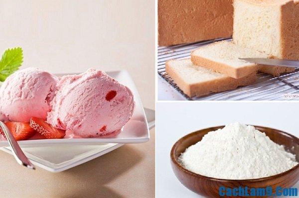 Nguyên liệu làm kem chiên đơn giản