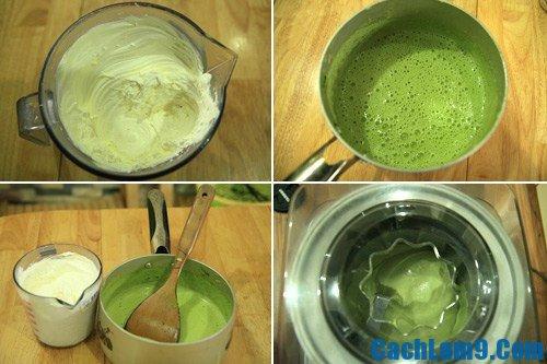 Hướng dẫn các bước làm kem trà xanh