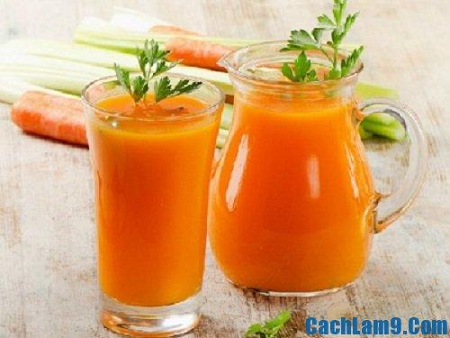 Sinh tố củ đậu cà rốt