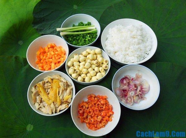 Nguyên liệu nấu cơm hạt sen