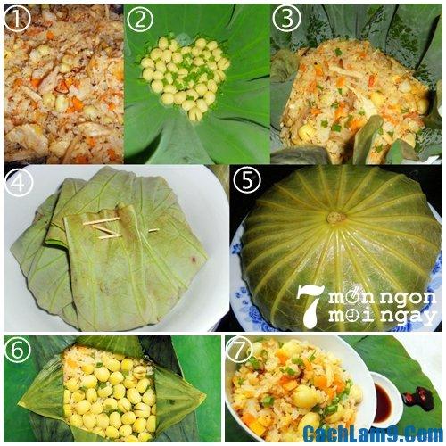 Hướng dẫn cách nấu cơm hạt sen
