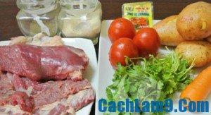 Cách làm thịt bò hầm khoai tây