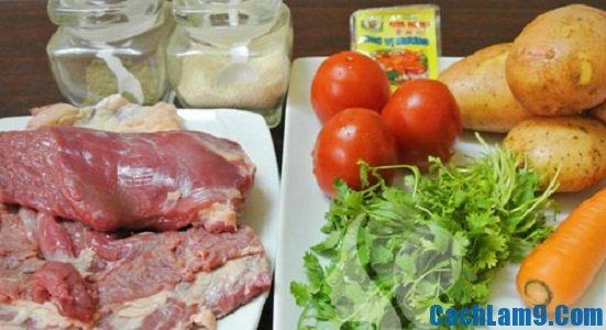 Cách làm thịt bò hầm khoai tây ngon cơm ngày cuối tuần