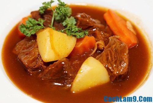 Cách làm khoai tây hầm thịt bò