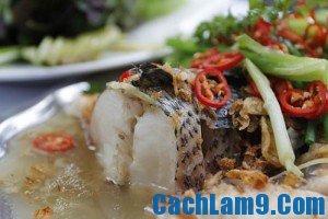 Cách làm cá lóc hấp sả, cach lam ca loc hap sa