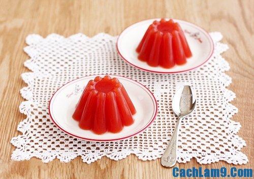 Cách làm thạch cà chua, cach lam thach ca chua