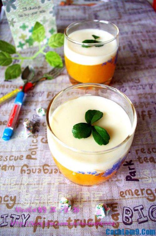 nấu ăn thật: Đẹp mắt, dinh dưỡng với thạch sữa bí ngô cực ngon