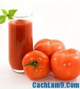 Cách pha chế sinh tố cà chua, cach pha che sinh to ca chua