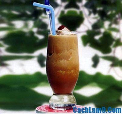 Cách pha chế sinh tố dừa cà phê, cach pha che sinh to dua ca phe