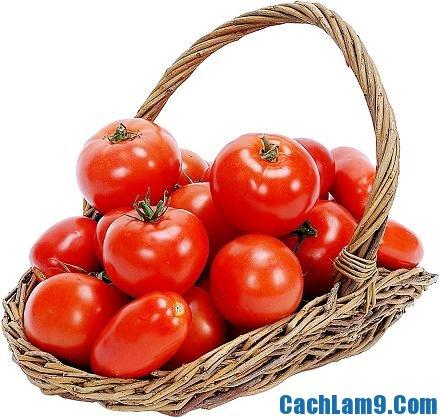 Chuẩn bị nguyên liệu pha chế sinh tố cà chua, chuan bi nguyen lieu pha che sinh to ca chua
