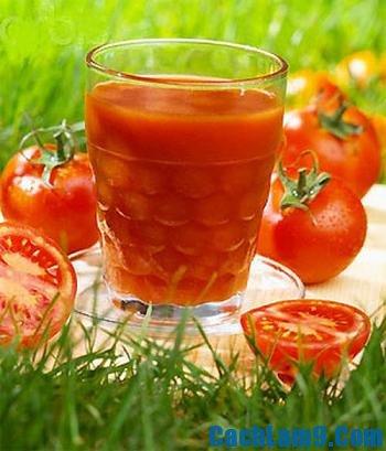 Thưởng thức sinh tố cà chua, thuong thuc sinh to ca chua