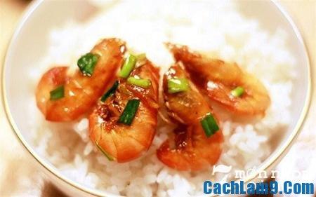 Thưởng thức tôm rim nước cốt dừa, thuong thuc tom rim nuoc cot dua
