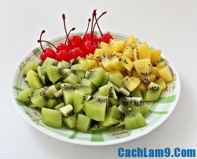 Nguyên liệu làm bánh Trung thu rau câu hoa quả