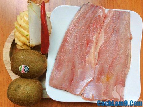 Hướng dẫn thực hiện cách làm cá lóc sốt kiwi