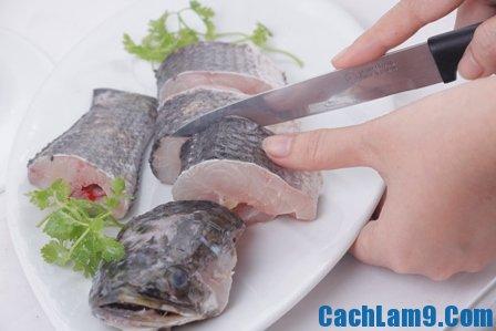 Nguyên liệu để làm cá lóc sốt kiwi