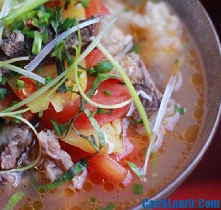 Cách làm canh thịt bò nấu dứa