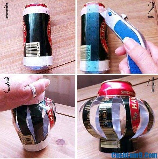 Hướng dẫn cách làm đèn lồng Trung thu bằng lon bia