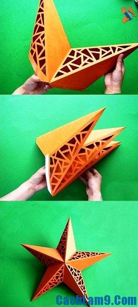 Cách làm đèn ông sao bằng giấy siêu dễ