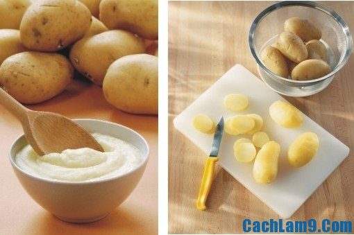 Mặt nạ làm trắng da từ khoai tây