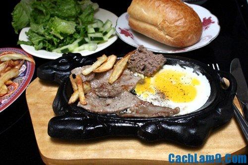 Yêu cầu thưởng thức món thịt bò bít tết