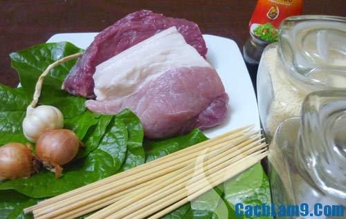 Cách làm thịt bò nướng lá lốt