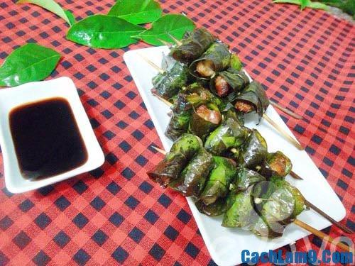 Thưởng thức món thịt nướng lá mắc mật