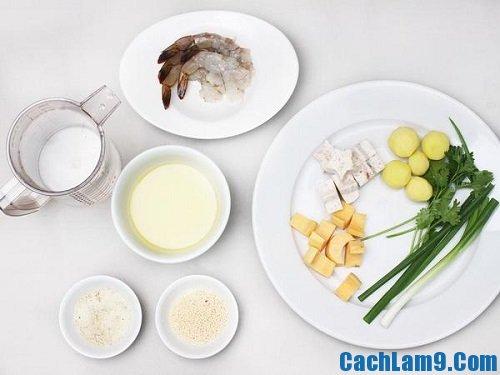 Cách nấu canh tôm rau củ