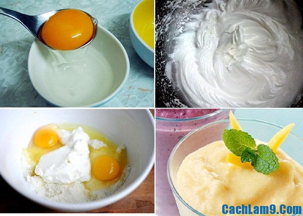 Hướng dẫn cách thực hiện kem trứng gà mật ong