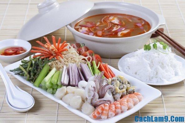 Cách nấu lẩu tôm chua