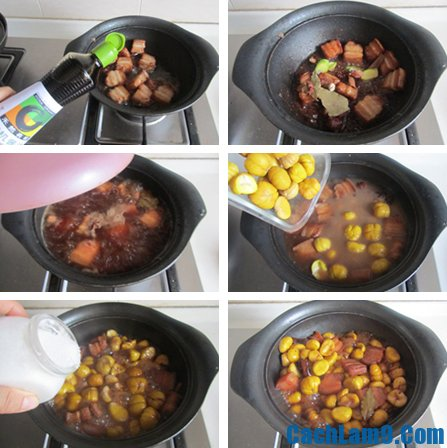 Hướng dẫn cách nấu thịt ba chỉ hạt dẻ ngon