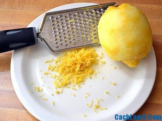 Nguyên liệu làm bánh cupcake hương chanh