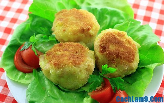 Cách làm bánh rán khoai tây giăm bông