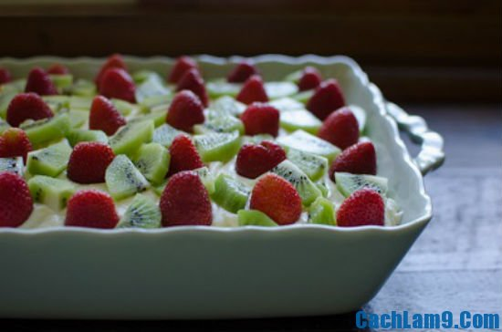 Hướng dẫn cách làm bánh tiramisu dâu kiwi