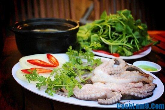 Cách nấu lẩu bạch tuộc
