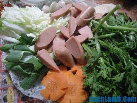 Nguyên liệu nấu lẩu kim chi