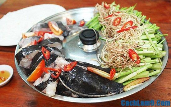 Nguyên liệu nấu lẩu cá lăng măng chua