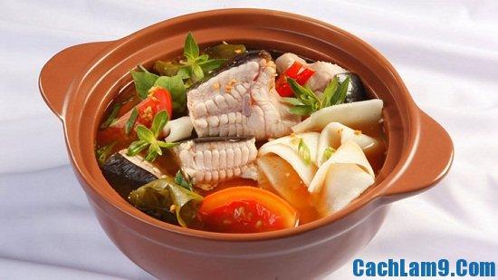 Hướng dẫn cách nấu lẩu cá lăng măng chua