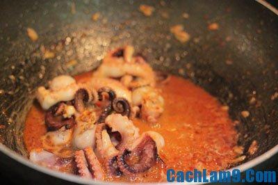 Hướng dẫn cách làm bạch tuộc xào rau muống